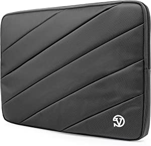 Protective Grey Shock Absorbing Laptop Sleeve for Dell Inspiron, Latitude, XPS, Precision, G3 G5 G7 15, Vostro, Alienware m15, m15 R2 14 to 15.6 inch