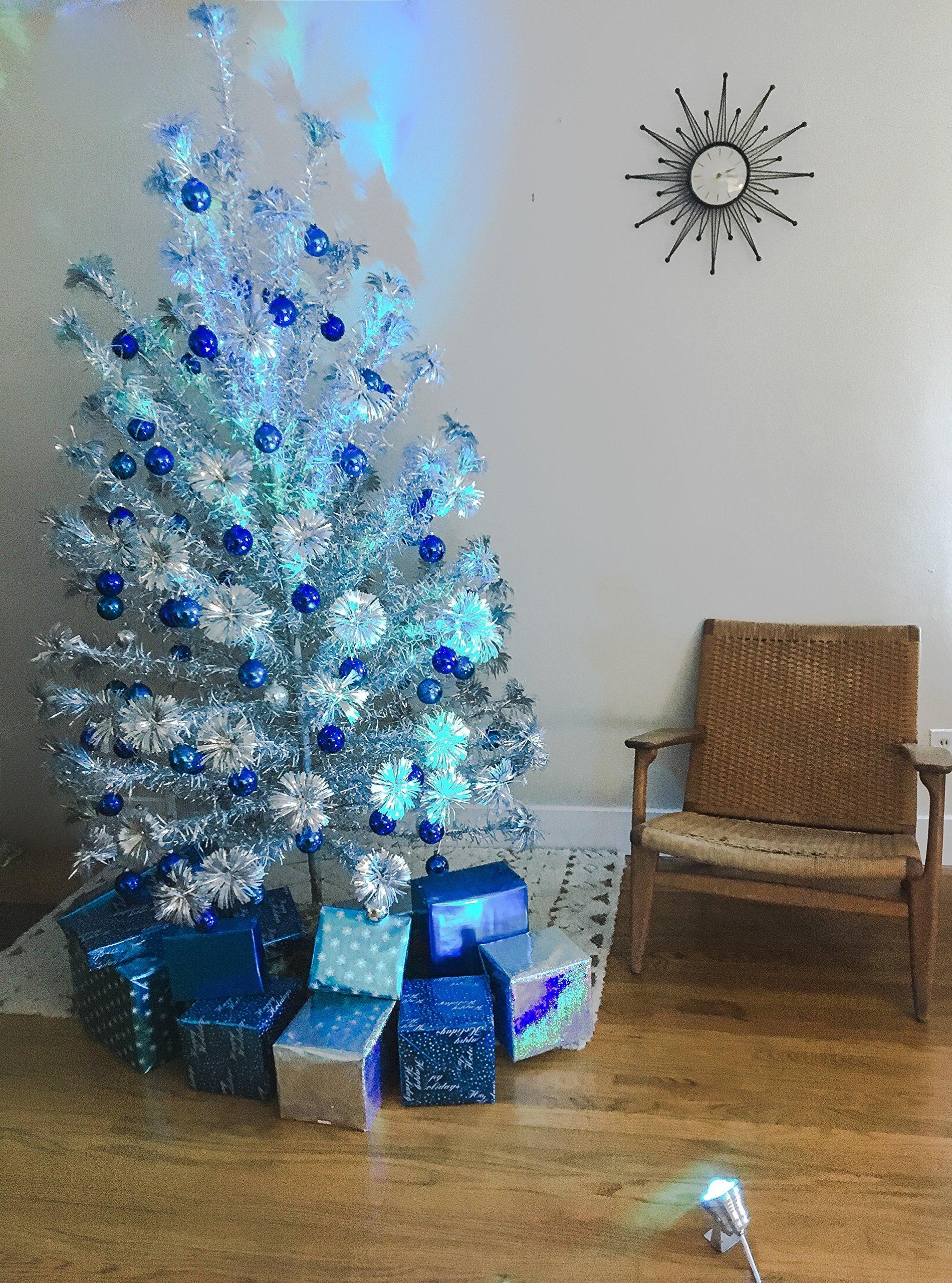 TreeTronics Color Wheel 2.0 – For Vintage Aluminum Christmas Tree - Mid Century Modern – Artificial Retro, MCM XMAS (Silver) by Color Wheel 2.0