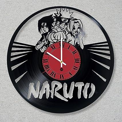 Amazon.com: Vinyl Record Wall Clock Naruto Ninja Anime ...