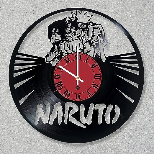 Reloj de pared de disco de vinilo Naruto Ninja Anime Cartoon ...