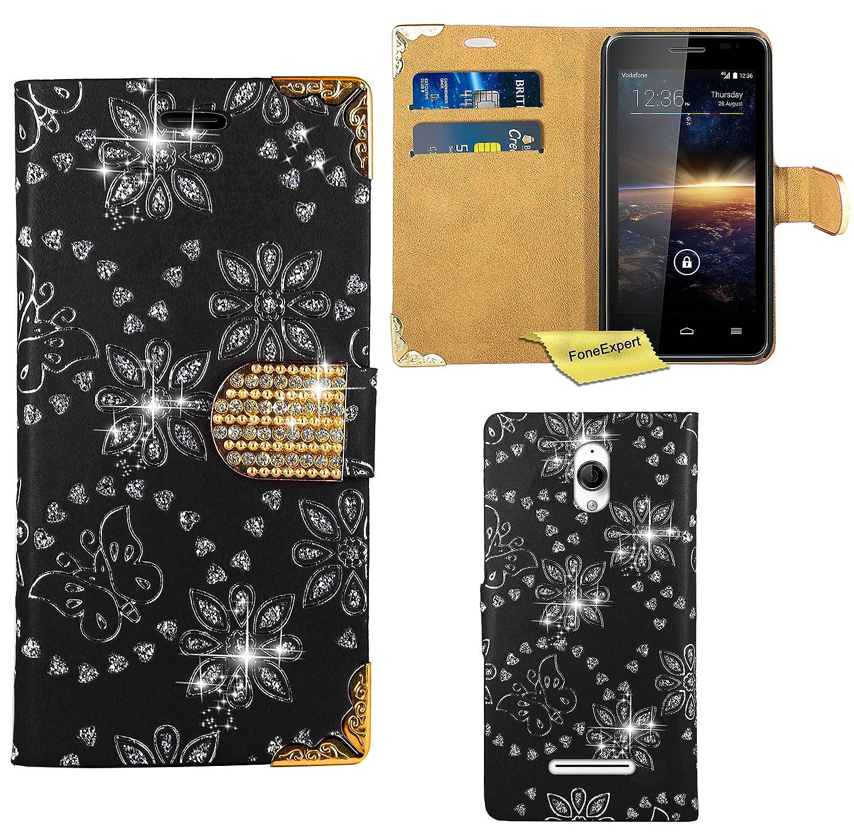 Amazon.com: Vodafone Smart 4 Turbo Case, FoneExpert Bling Luxury Diamond Leather Wallet Book Bag Case Cover For Vodafone Smart 4 Turbo: Cell Phones & ...