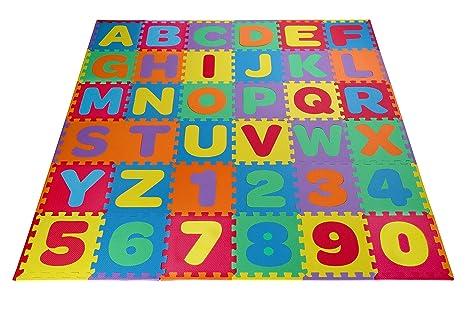 eva border mat numbers reusable amazon plus toydaloo abc com play dp foam puzzle carrying kids alphabet