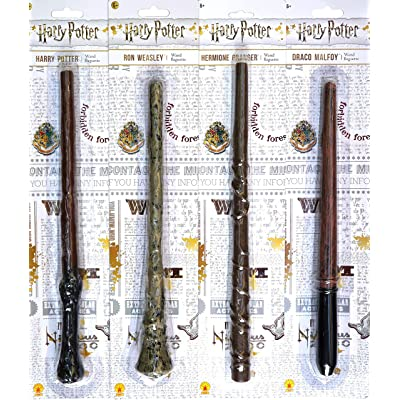 Bundle - 4: Harry Potter, Ron Weasley, Hermione Granger, Draco Malfoy Magic Wands: Home & Kitchen
