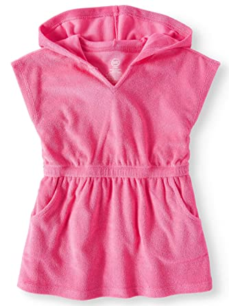 924b12bc59 Image Unavailable. Image not available for. Color: Wonder Nation Girls  Hooded Pullover Terry Swimsuit Cover Up ...