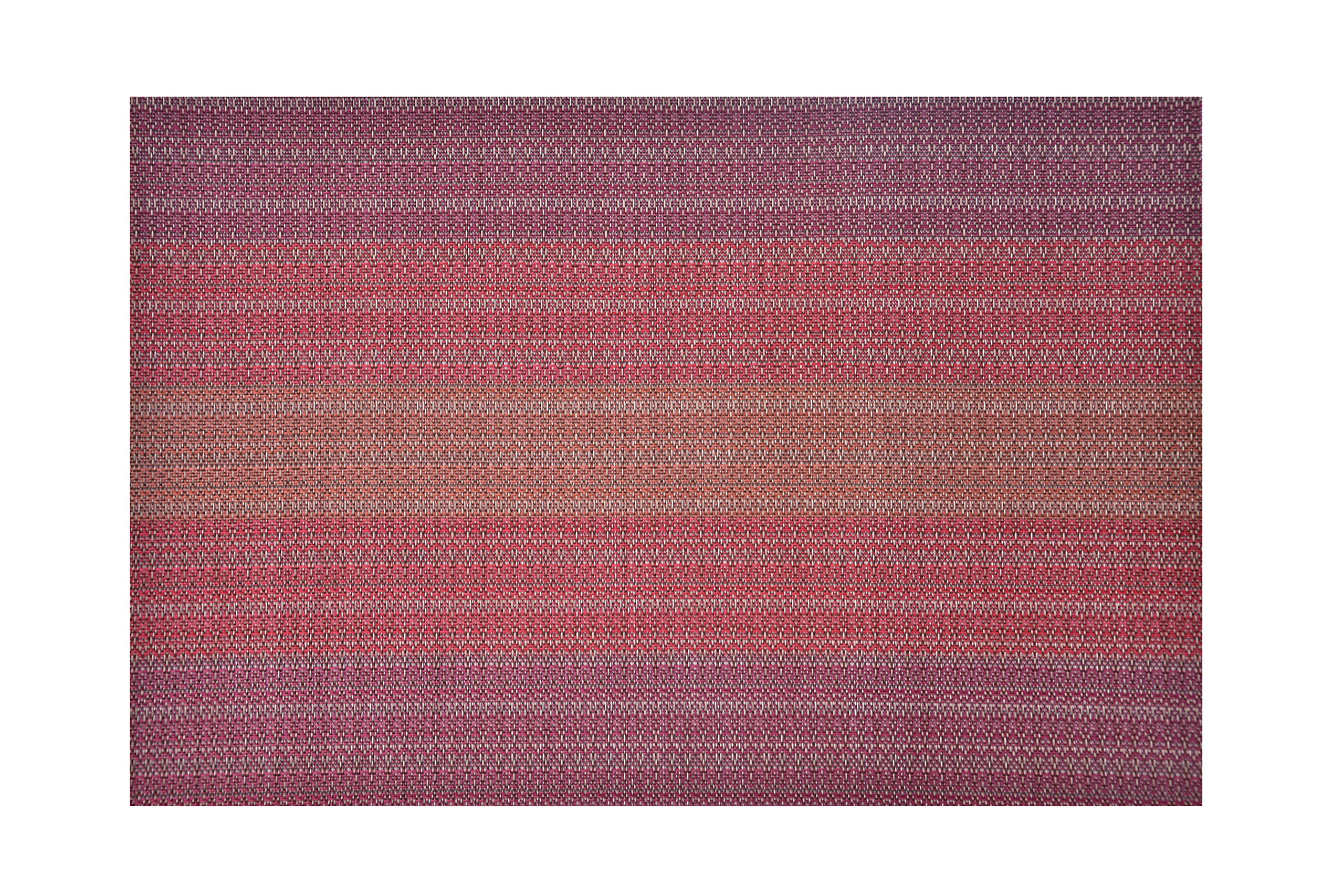 Ecoshome Placemats Heat-resistant Placemats Stain Resistant Anti-skid Washable PVC Table Mats Woven Vinyl Placemats (Set of 6, Red)