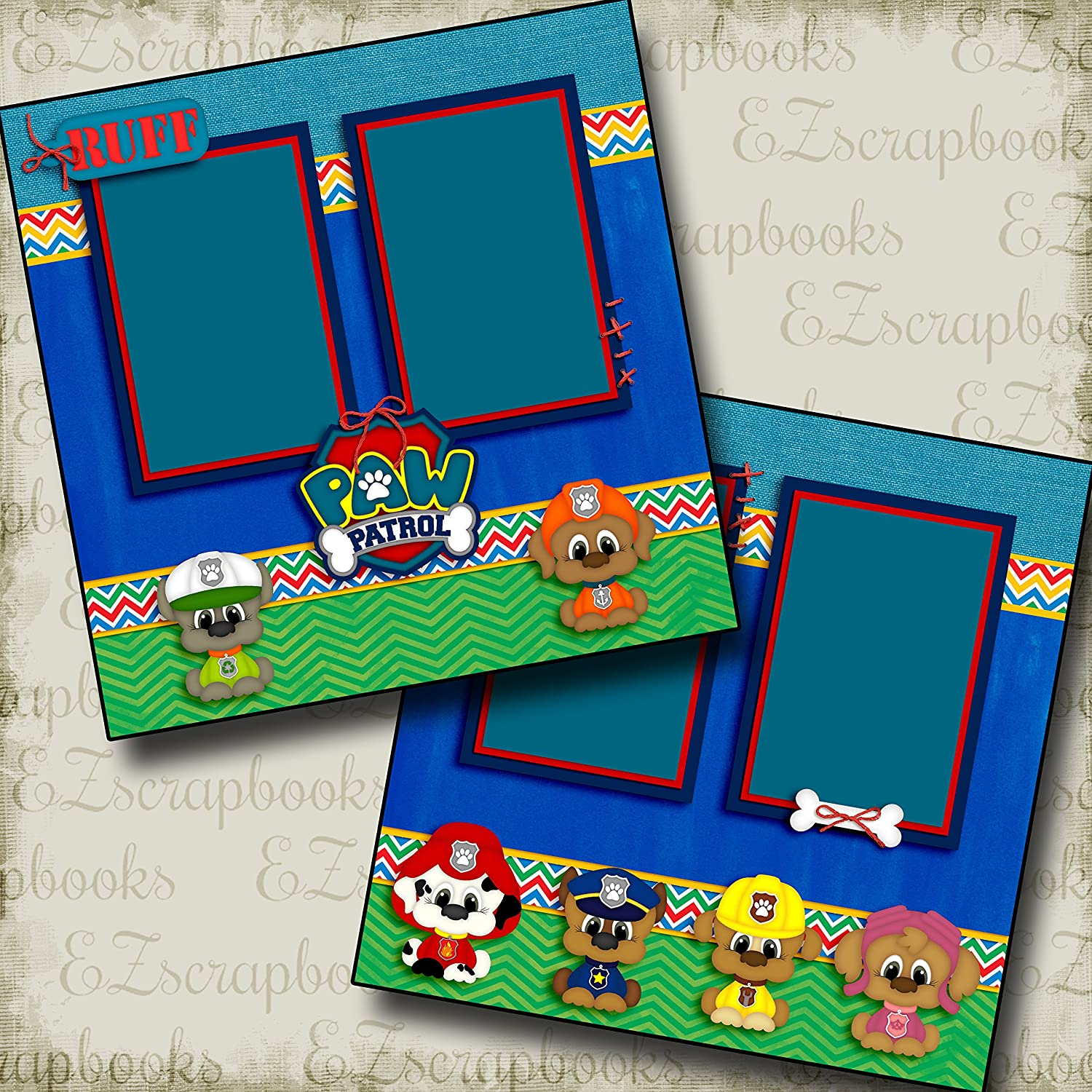Premade Scrapbook Pages EZ Layout 3150 Paw Pup Patrol