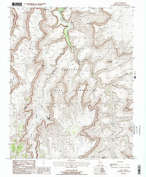Supai Arizona Map.Amazon Com Yellowmaps Supai Az Topo Map 1 24000 Scale 7 5 X 7 5