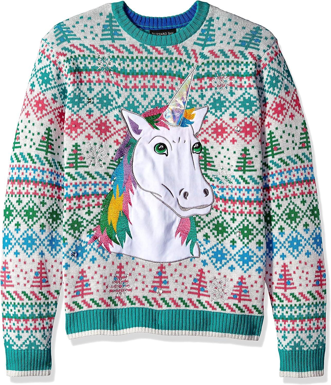 Blizzard Bay Men's Ugly Christmas Sweater Unicorn