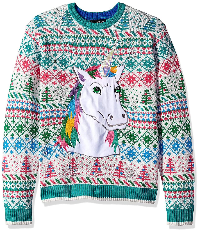 Blizzard Bay Mens Standard Winter Unicorn Ugly Christmas Sweater Blizzard Bay Mens Apparel E73248