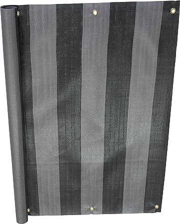Angerer 3324/3800_800 Balkonbespannung PE-Gewebe Nr. 3800, Grau, 90 cm hoch, Länge: 8 Meter