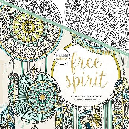 Kaisercraft Kaisercolour Perfect Bound Coloring Book Free Spirit Acrylic