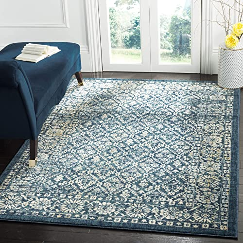 Safavieh Evoke Collection EVK511A Vintage Distressed Area Rug, 10 x 14 , Navy Gold
