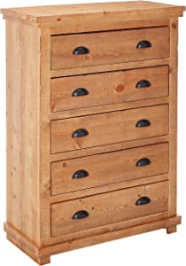 """Progressive Furniture Willow Distressed Pine Chest, 38 by 18 by 52"""""""
