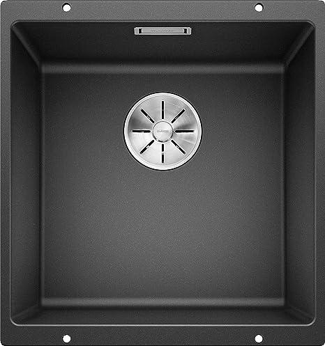 ANDANO 400 U 1 cuve BLANCO cuve sans /égouttoir en Acier INOX Lisse /à int/égrer sous Plan vidage 90 mm