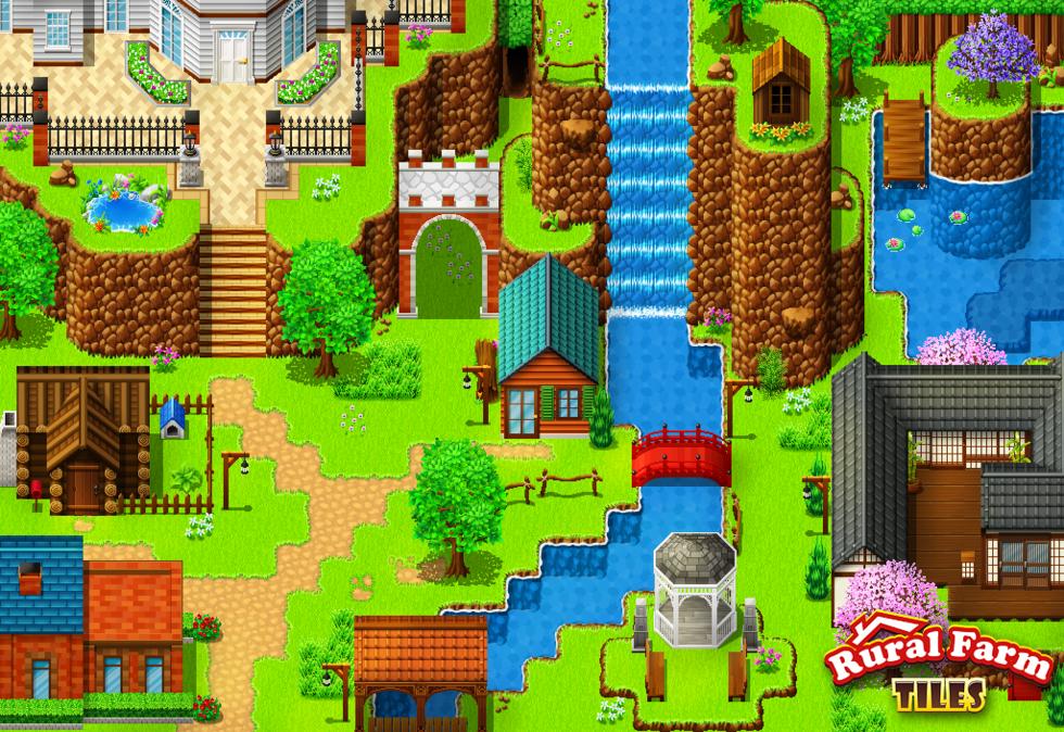RPG Maker VX Ace DLC - Rural Farm Tiles Resource Pack - Import It All