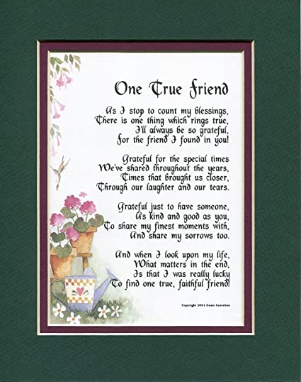 Amazon 155 Gift Friendship Poem 30th 40th 50th 60th 70th Birthday Present For A True Friend Home Kitchen