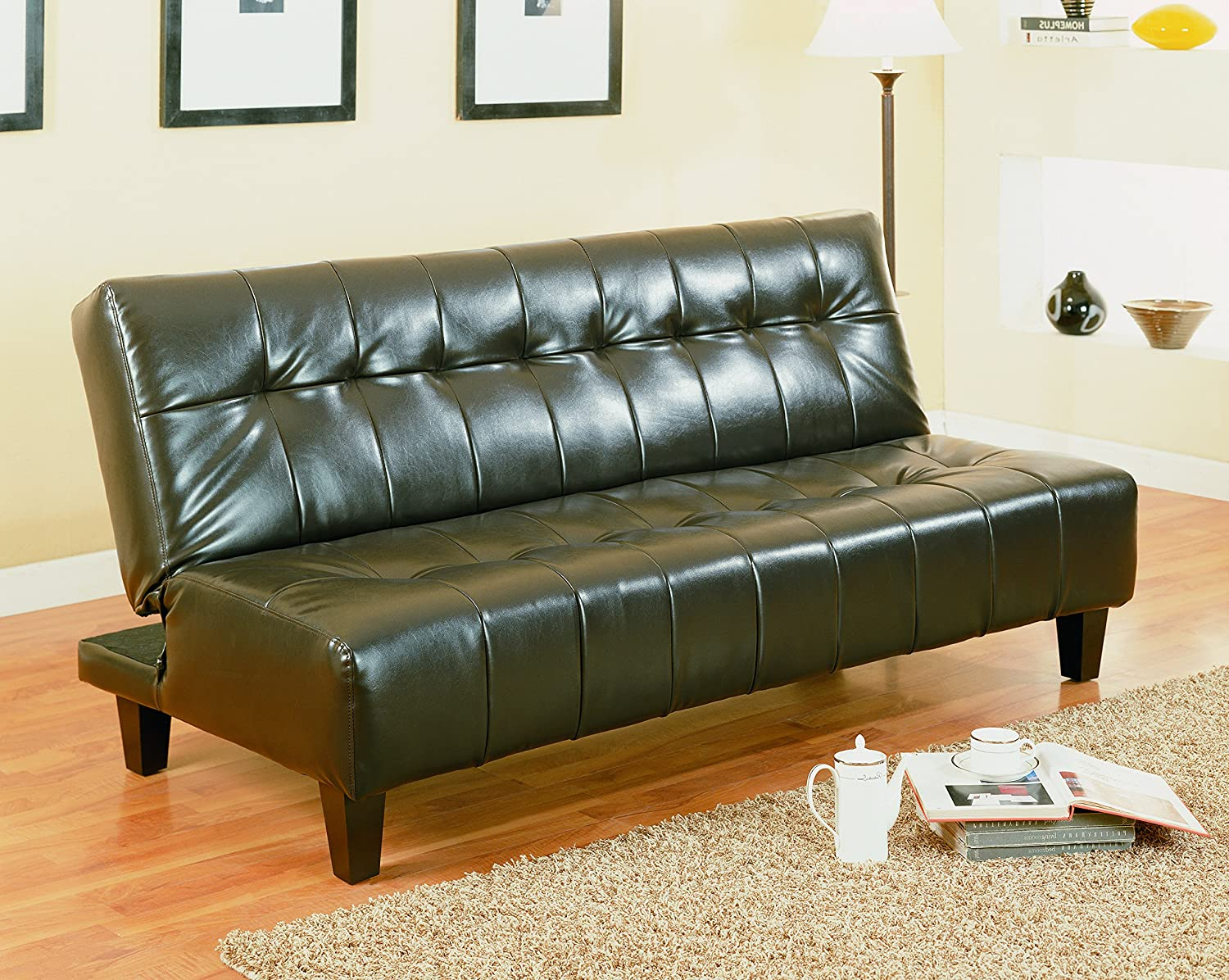 Amazon.com: Crown Mark Marco Adjustable Sofa, Espresso: Kitchen & Dining