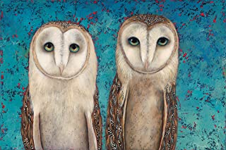 product image for Santa Fe Artist Lori Faye Bock Art Note Card Portfolio - Owls (12 Cards)