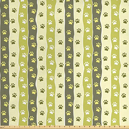 Amazon Com Ambesonne Dog Fabric By The Yard Vertical Pattern With