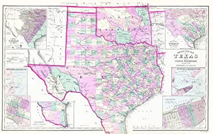 Amazon Com Maps Of The Past Texas And Oklahoma Indian Territory