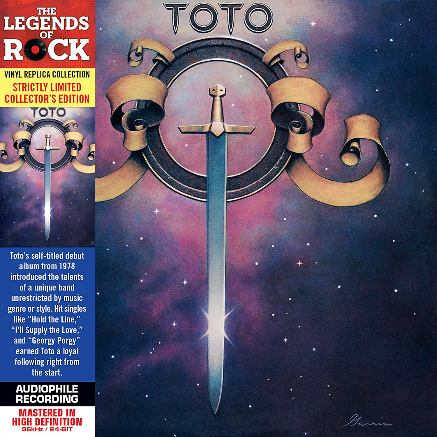 Toto - Toto - Cardboard Sleeve - High-Definition CD Deluxe Vinyl ...