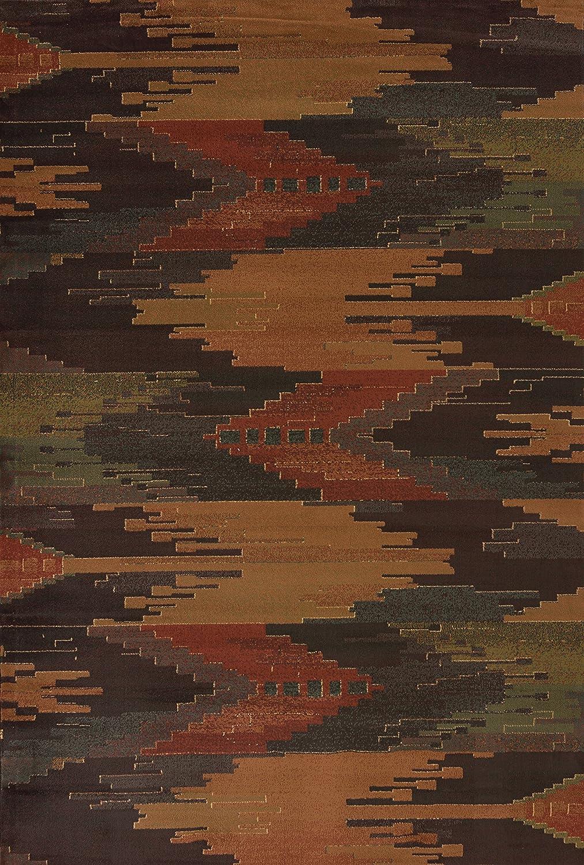 United Weavers of America Genesis Collection Abilene Heavyweight Heat Set Olefin Rug, 1-Feet 11-Inch by 7-Feet 4-Inch, Lodge