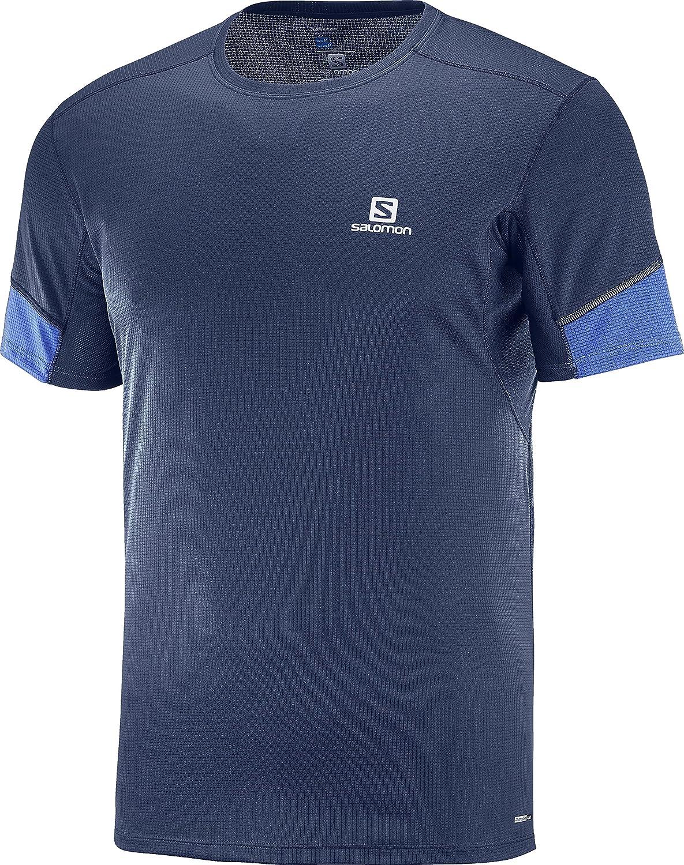 SALOMON Agile Camiseta de Manga Corta, Hombre, Azul Oscuro (Dress ...