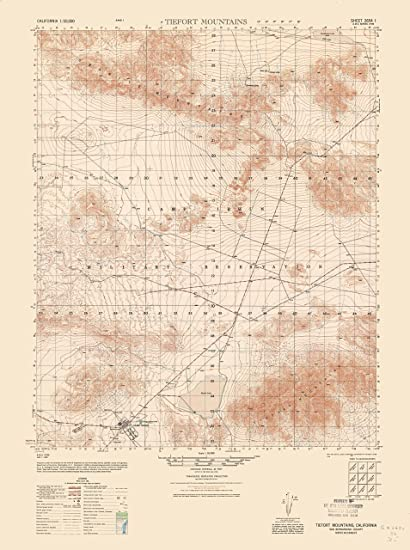 Topographic Map Of Mountains.Amazon Com Topographic Map Tiefort Mountains California Sheet