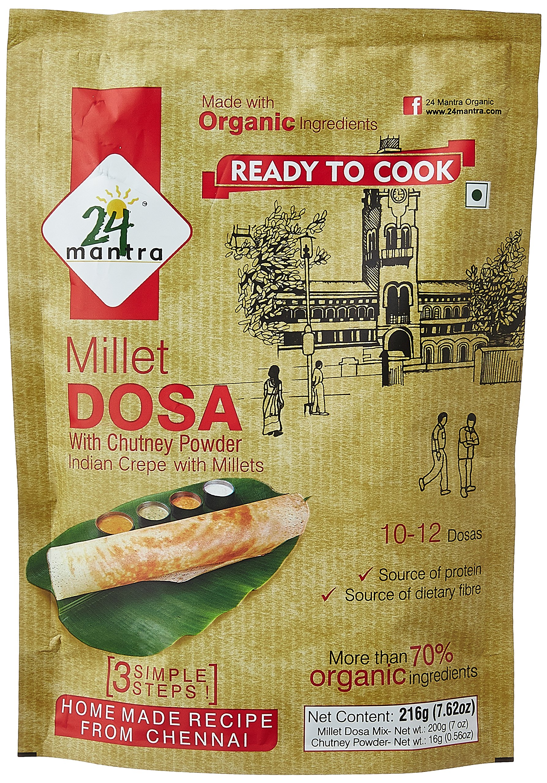 24 Mantra Organic Millet Dosa Mix, 216g (B01N0QZPRC) Amazon Price History, Amazon Price Tracker