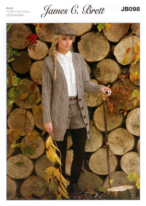 4249bbeb4 Aran - JB098 Ladies Cardigan Pattern 71-117cm (28