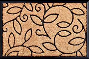 Calloway Mills Vine Leaves Coir and Rubber Heavy-Duty 18