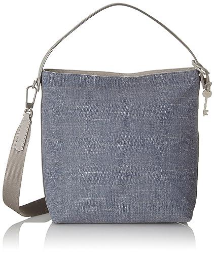 7eac776ce Fossil Damentasche ? Maya Small Hobo, Women's Shoulder Bag, Blue (Chambray),