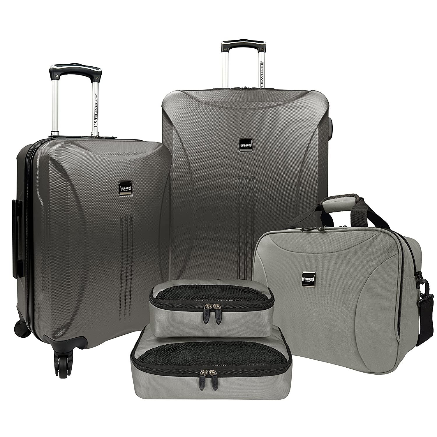 25f568783825 US Traveler Skyscraper Hardside Spinner Tote & Packing 5-Piece Cube Set -  Iron Grey
