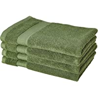 Amazon Brand - Solimo Bamboo Biss 4 Piece Hand Towel Set, 575 GSM