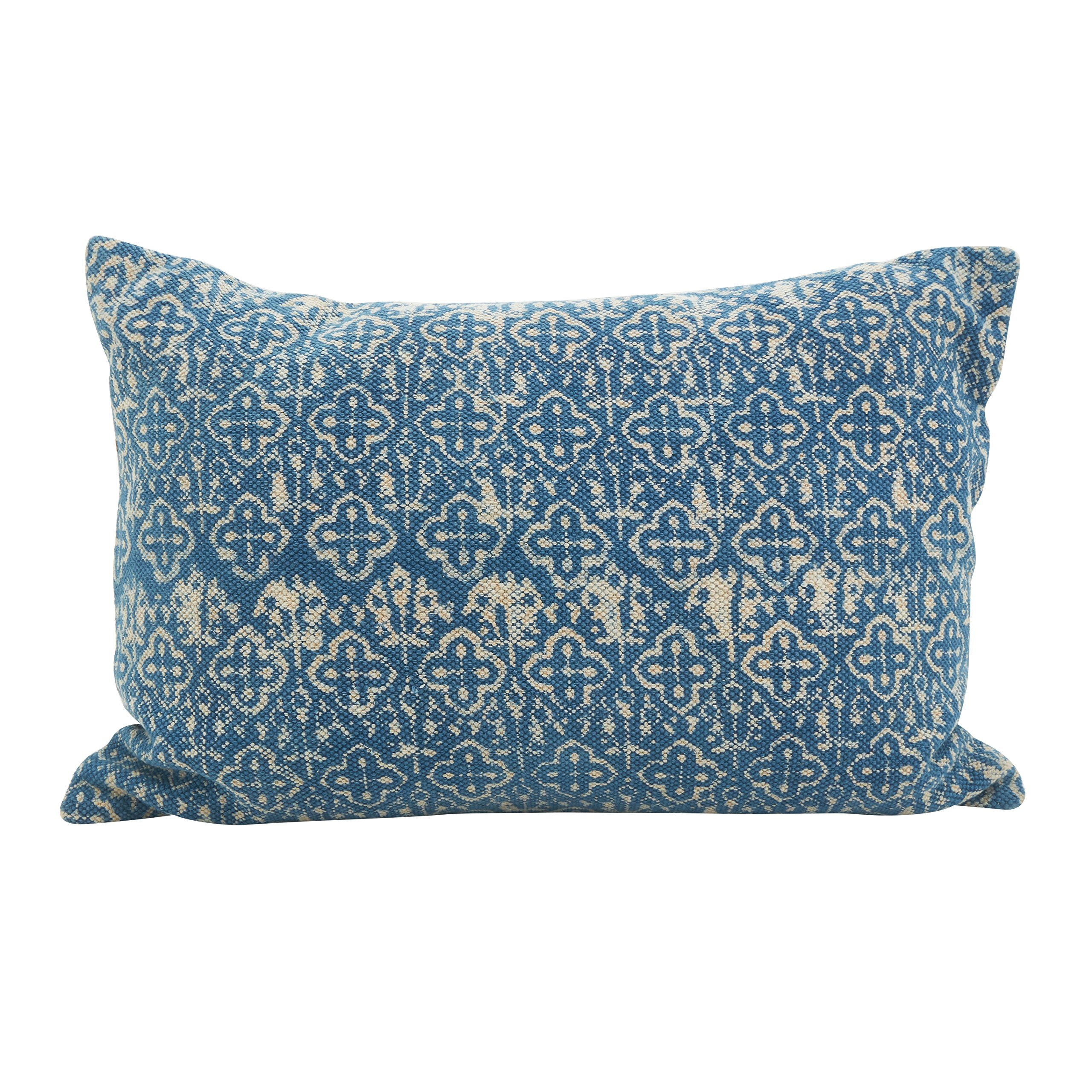 SARO LIFESTYLE Moravia Collection Distressed Design Throw Pillow/8410.IN1624B, 16'' x 24'', Oblong