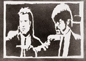 moreno-mata Pulp Fiction Handmade Street Art - Artwork - Poster