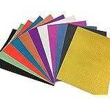 10 pz Fogli Glitterati Adesivi di Formato A4 Fogli Glitter Adesivi per Lavoretti Cartoncini Glitter Cartoncini Colorati A4 Carta Glitterata Autoadesivi Fogli Colorati DIY Glitterati per Bricolage