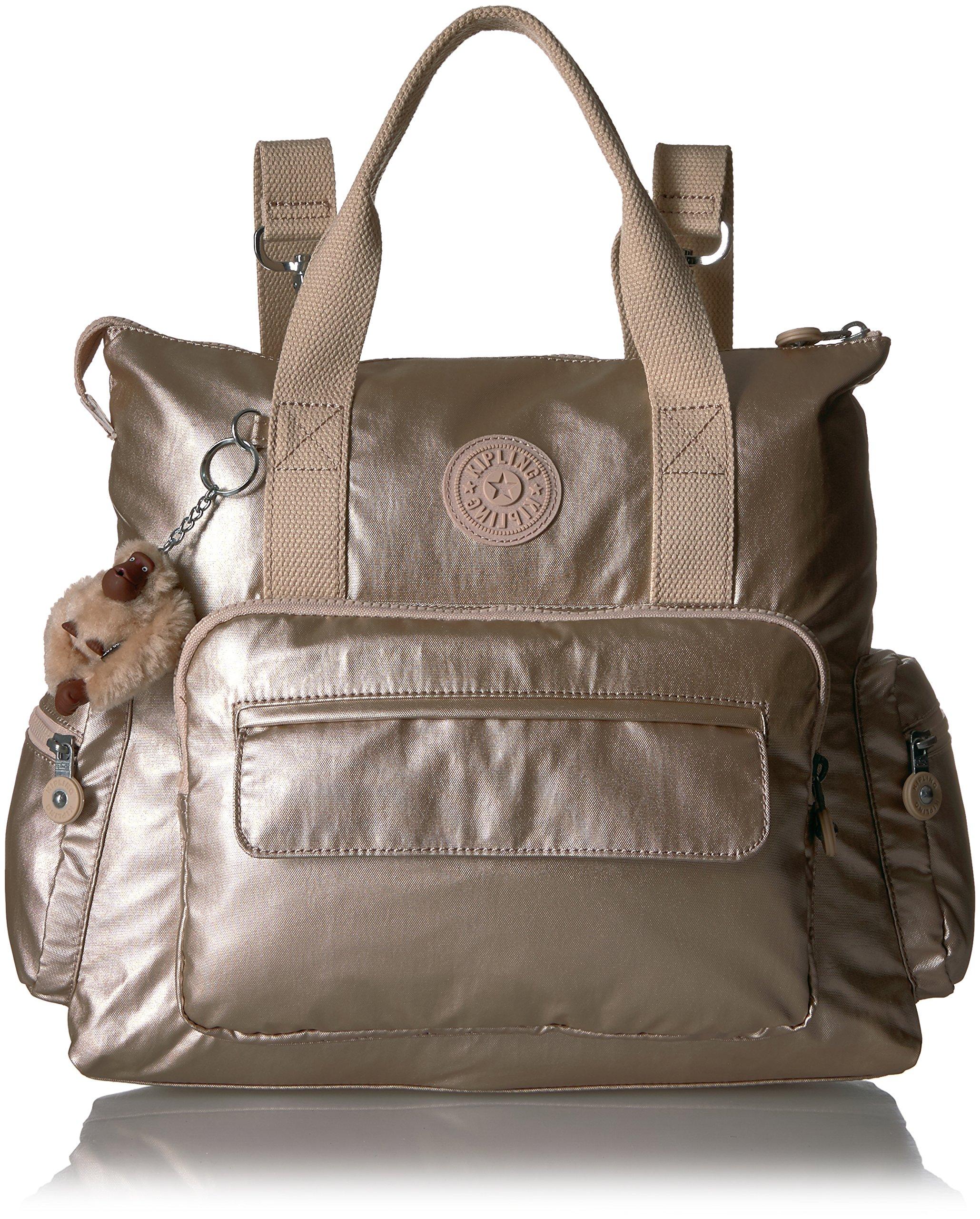 Kipling Alvy Sparkly Gold Convertible Handbag, Sparklygld