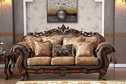 Amazon Com Meridian Furniture 693 S Seville Solid Wood Upholstered