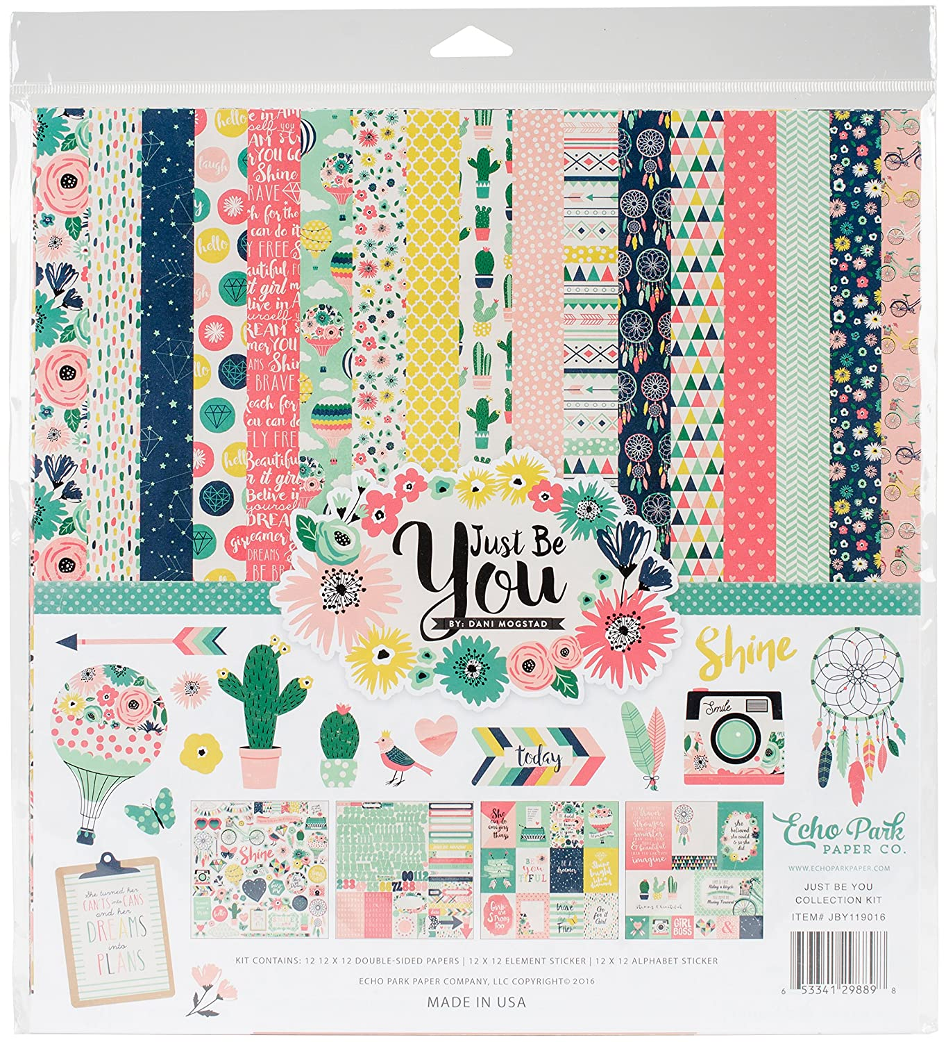 Echo Park Paper JBY119016 Collection Kit, Multi-Colour, 12 x 12-Inch