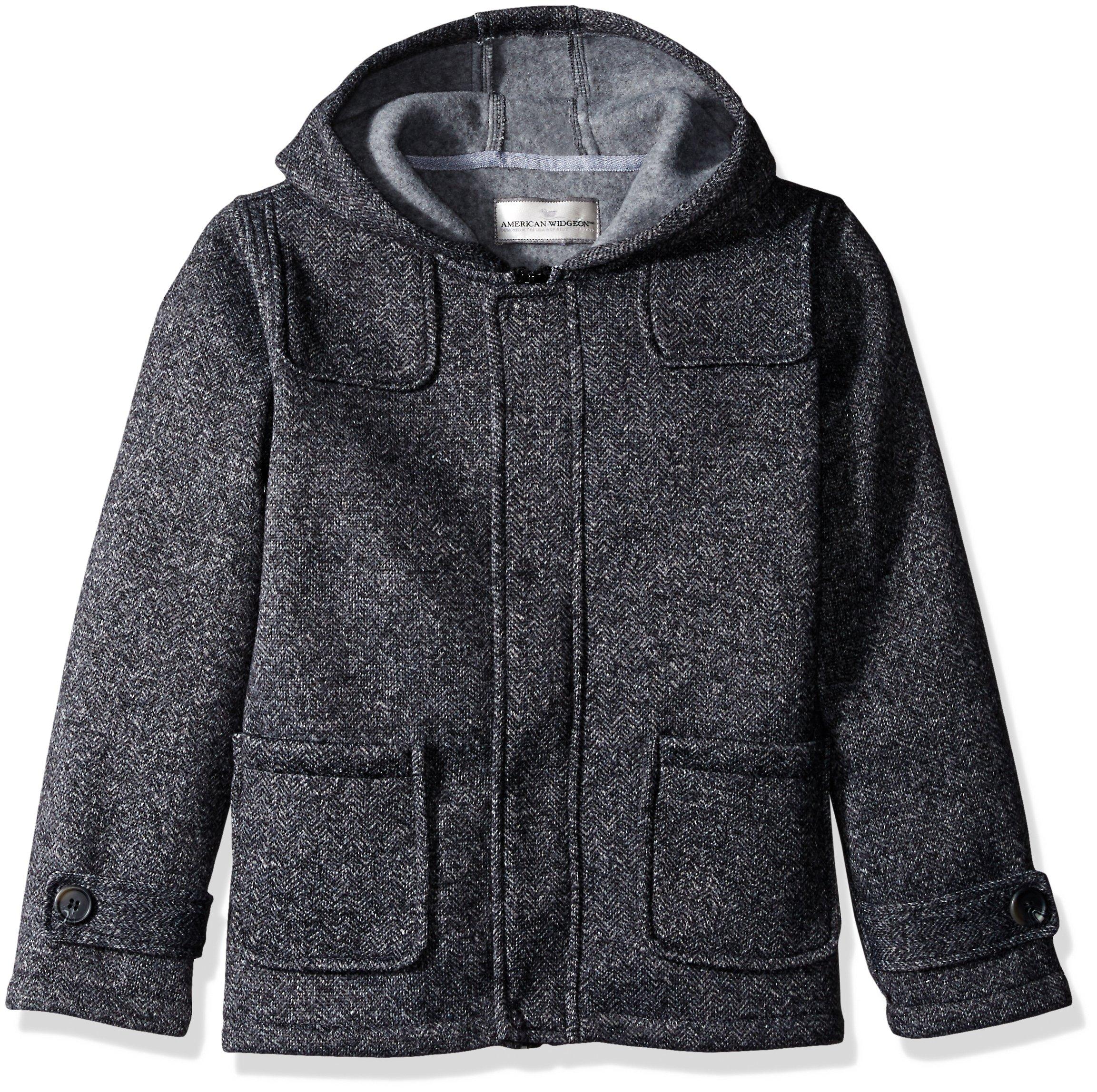 Widgeon Boys' Big Fleece Heather Tweedy Coat, Grey, 10