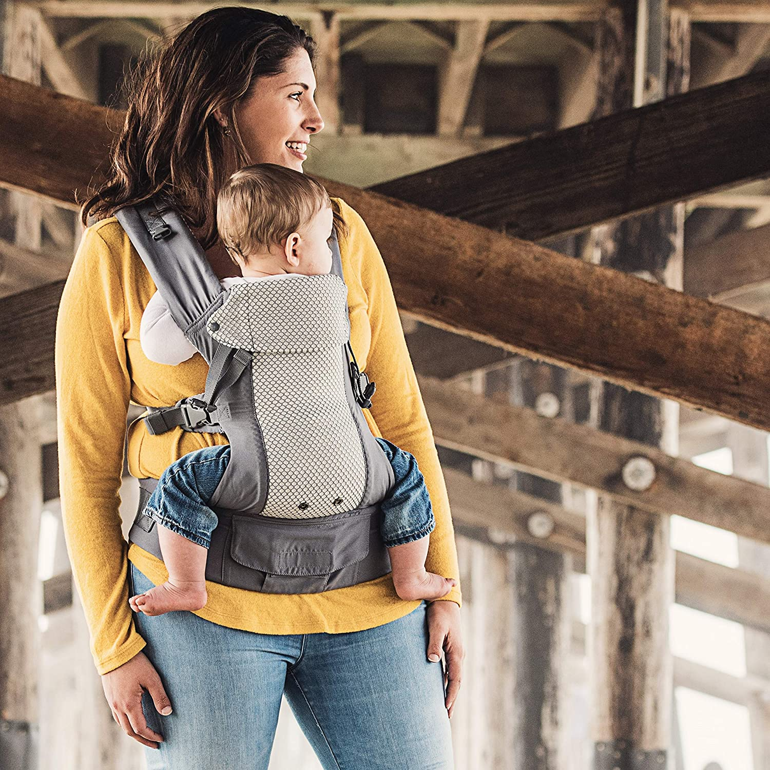 Multi-Position Soft Structured Sling w//Adjustable Straps /& Comfort Padding for Infant//Toddler Hip Support Change of Heart Gemini Performance Baby Carrier By Beco