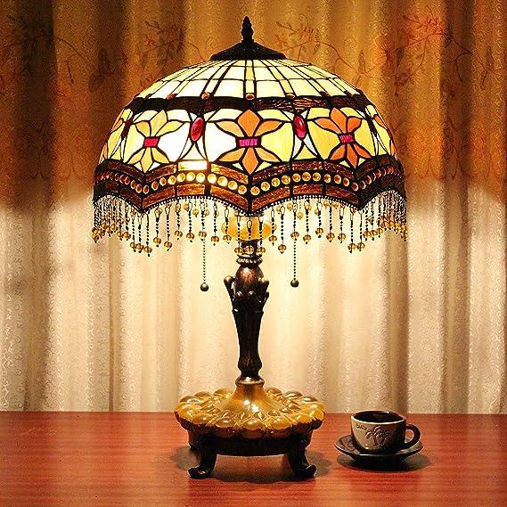 Europea Tiffany Lámpara de mesa de 16 pulgadas barroco colgante ...