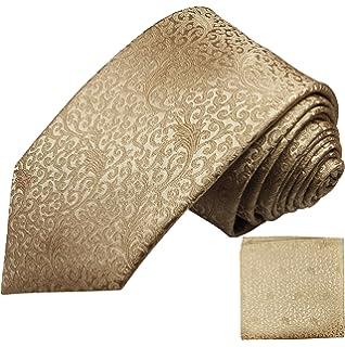 Manschettenknöpfe 3tlg 2049 Einstecktuch Gold Barocke Seidenkrawatte