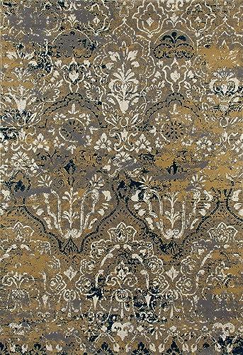 Art Carpet Bastille Collection Emerge Woven Area Rug, 5 x 8 , Yellow Gray