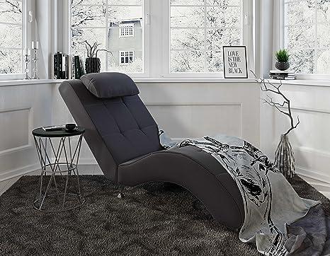 Moderne Recamiere Mit Stoff Grau Relaxsessel Furs Wohnzimmer Myhomery Relaxliege Tanja Chaiselongue Liege Zum Entspannen
