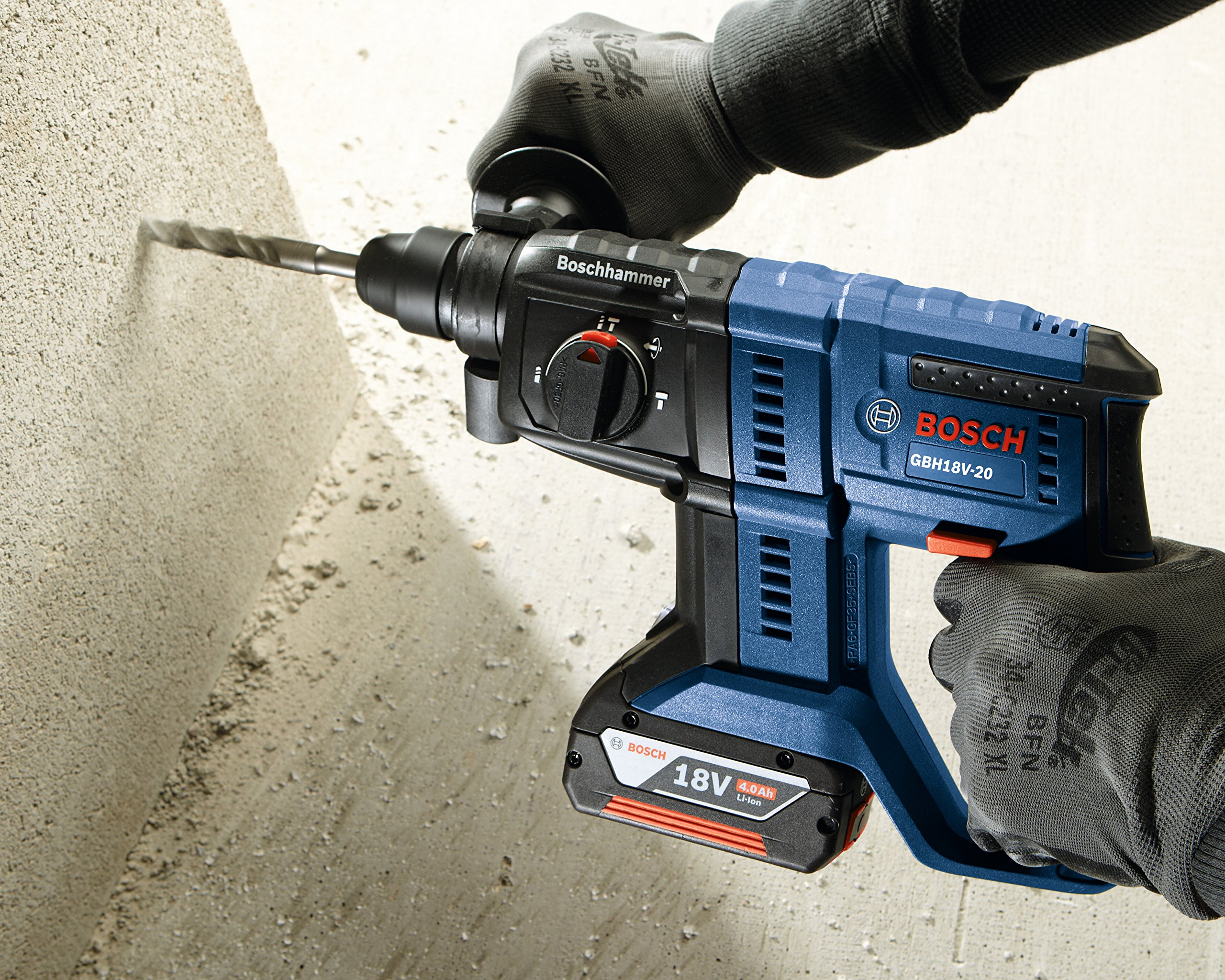 Bosch GBH18V-20N 18V 3/4 in. SDS-plus Rotary Hammer (Bare Tool) by Bosch (Image #3)