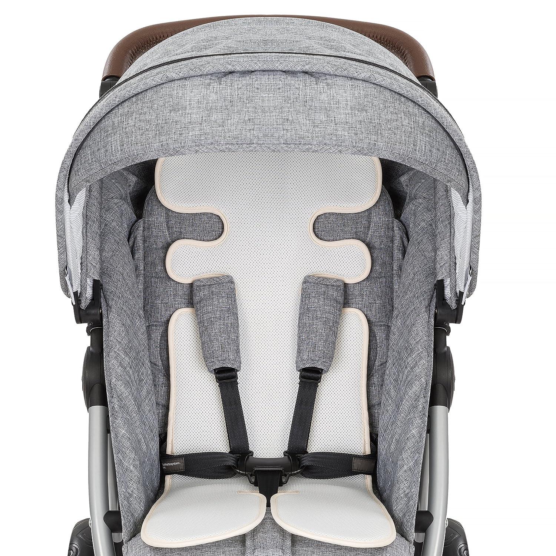 Asiento de verano transpirable y universal / Colchoneta para cochecitos y sillas de paseo, reduce la sudoración y mantiene al bebé fresco, buena ...