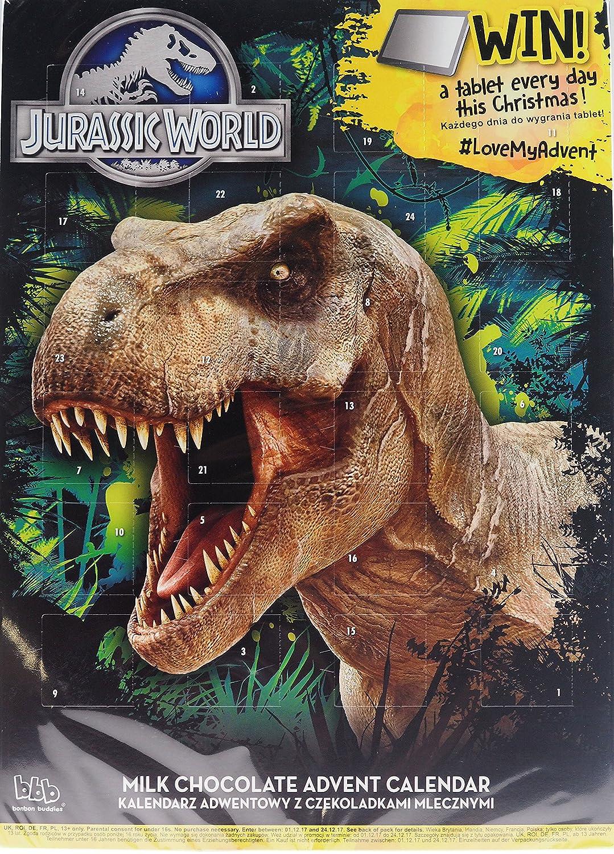 Jurassic World T Rex dinosauro Natale calendario dell' avvento cioccolata Bon Bon Buddies