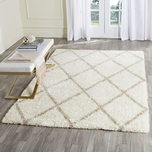 Safavieh Montreal Shag Collection SGM831F Ivory and Beige Area Rug 3 x 5